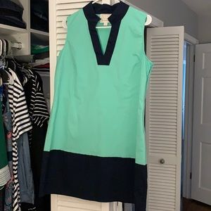 Sail to Sable green and navy shift, XL, worn once